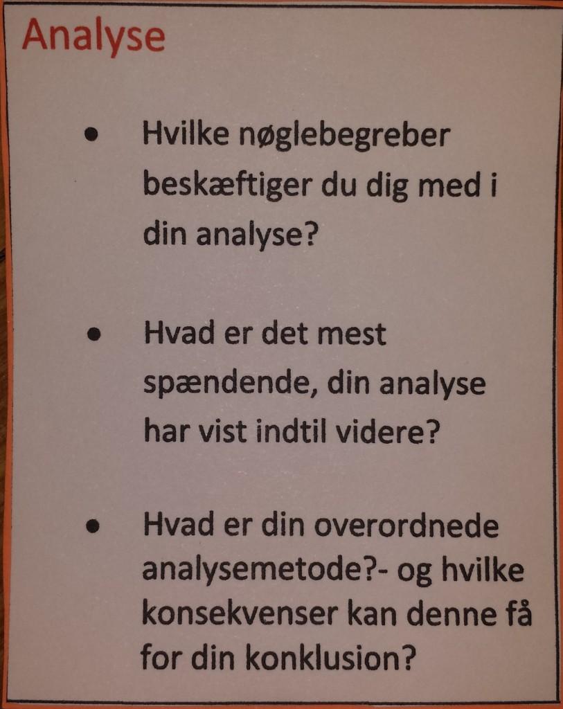 Har du styr på analysen i dit speciale?