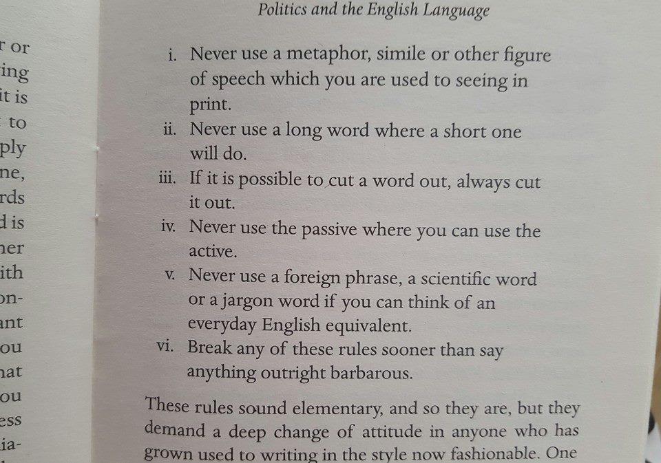 Brug Orwells regler i dine skriveøvelser
