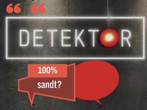 Objektiv fakta i Detektor?