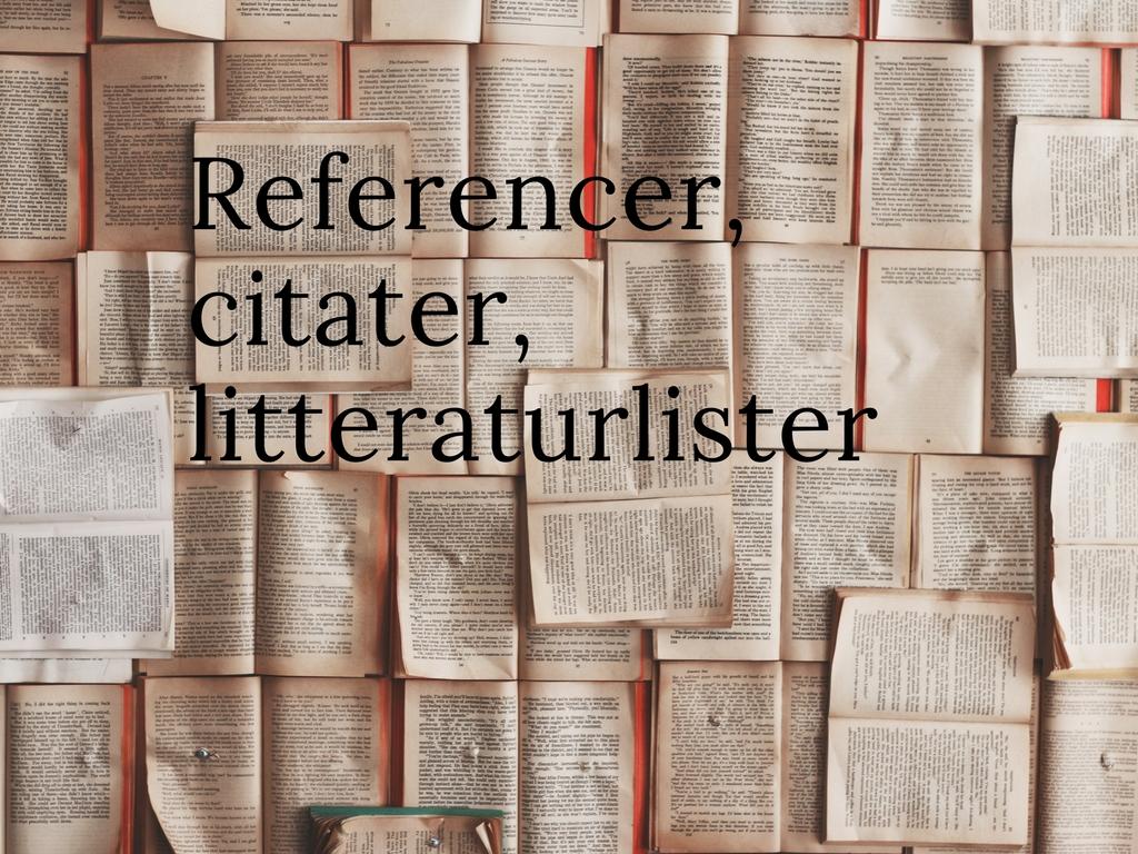 litteraturliste - skabelon