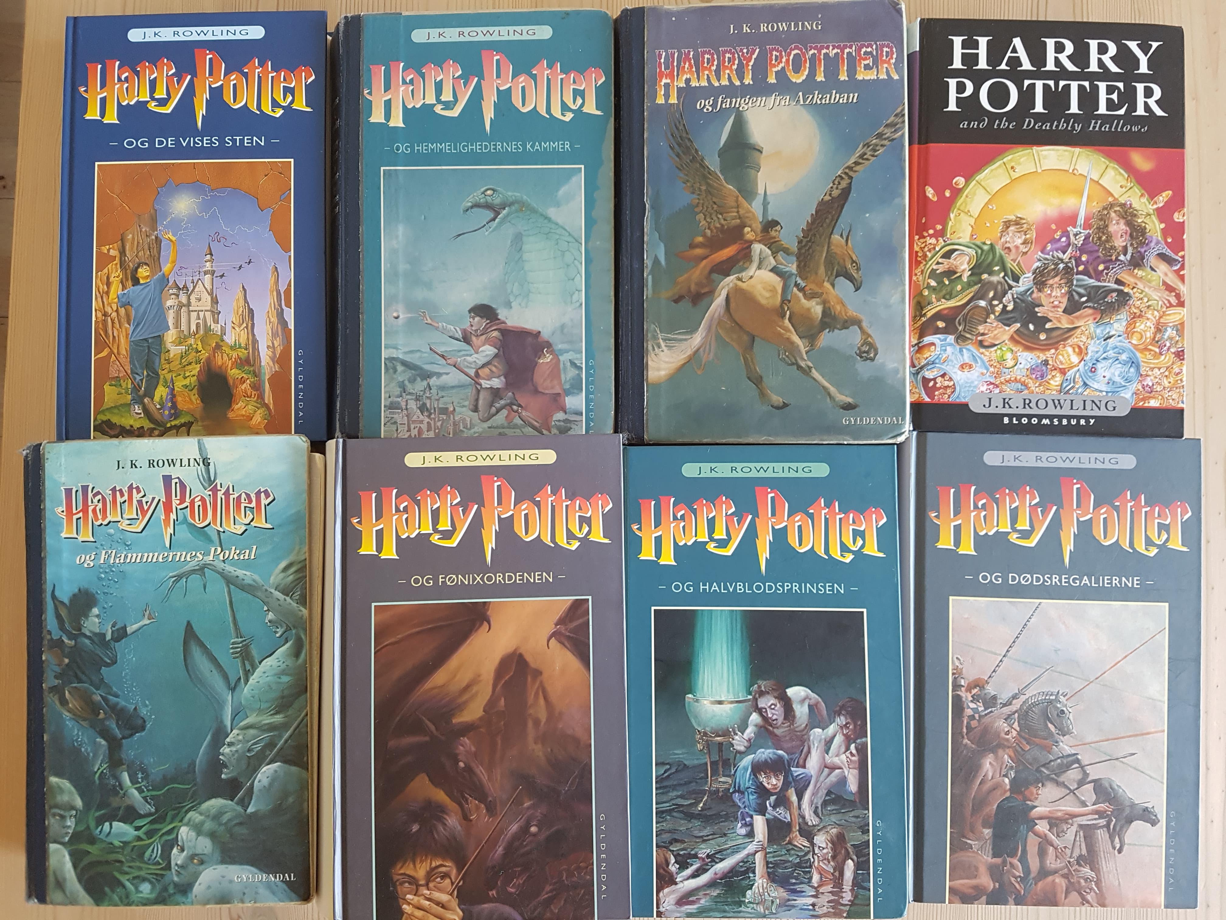 harry potter serien bøger