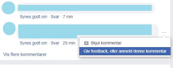 Giv feedback eller anmeld hadske kommentarer